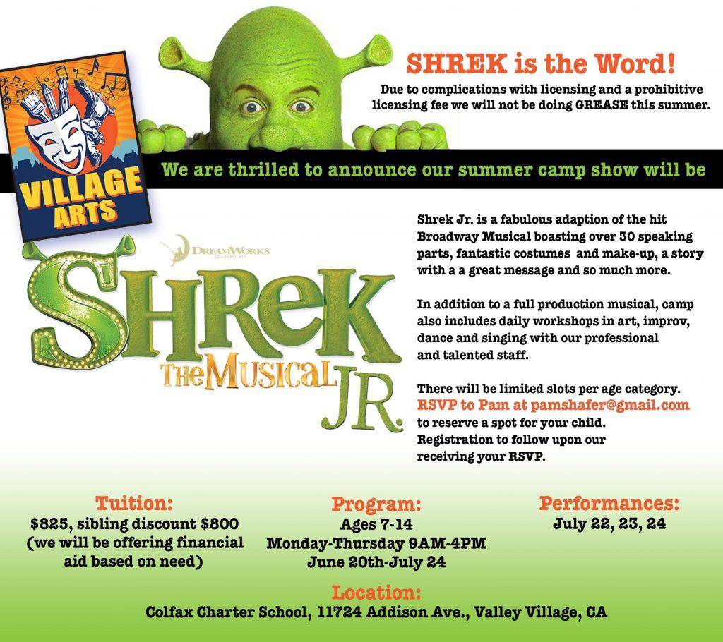 Village Arts Theatre Summer Camp 2016 Shrek the Musical Jr.